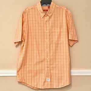 IZOD saltwater men's short sleeve button down